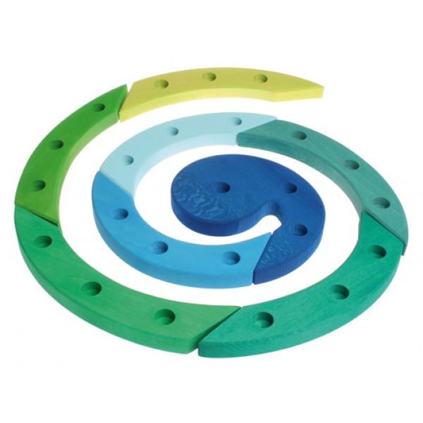Grimms Spiraal 24 blauw groen