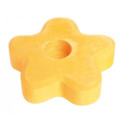 Kaarsenhouder bloem geel