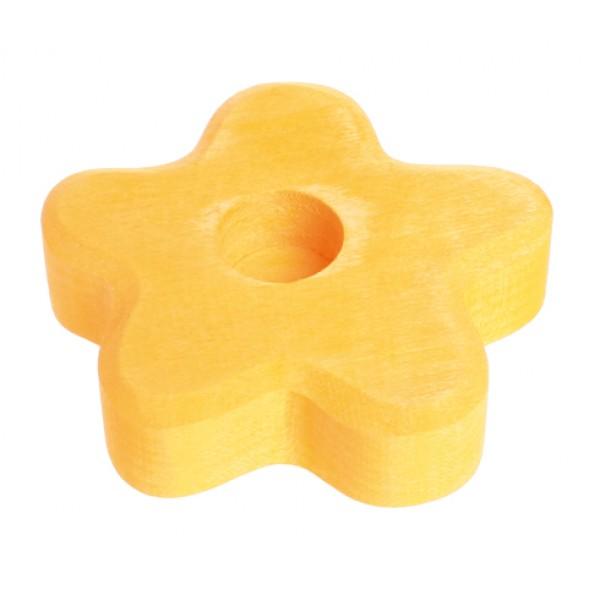 Grimms Kaarsenhouder bloem geel