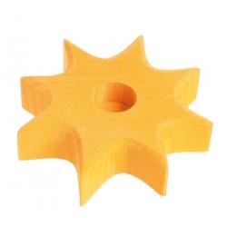 Kaarsenhouder ster geel