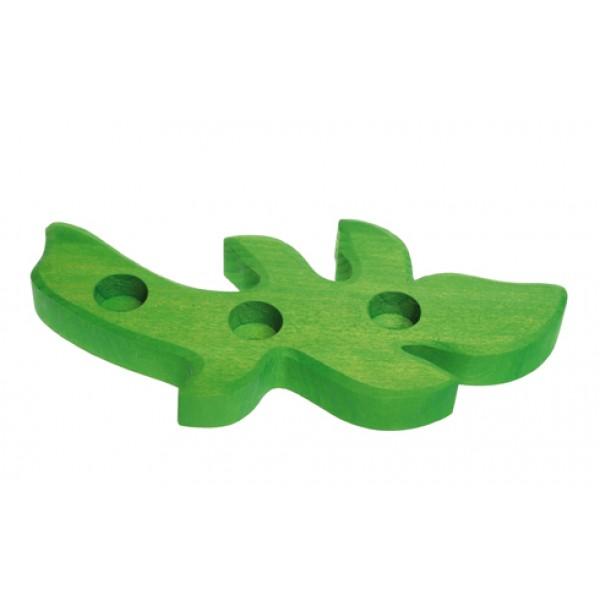 Grimms Kaarsenhouder tak donker groen