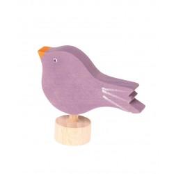 Steker vogel paars