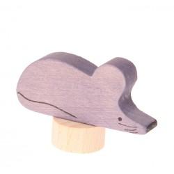 Steker muis grijs/paars