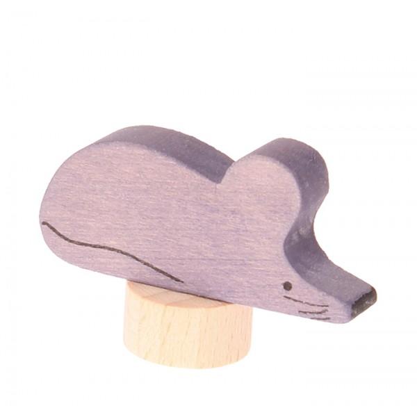Grimms Steker muis grijs