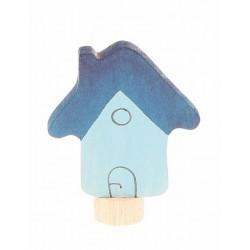 Steker huis blauw