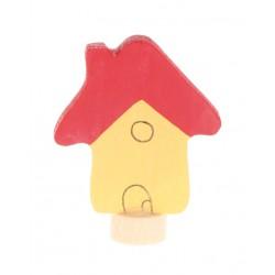 Steker huis geel