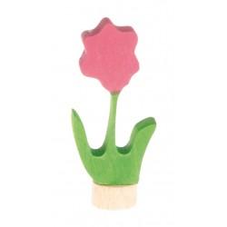 Steker bloem roze