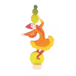 Steker jongleer meisje
