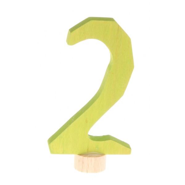 Grimms Steker getal cijfer 2