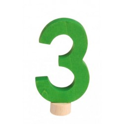 Steker getal cijfer 3 strak