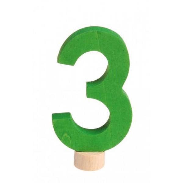 Grimms Steker getal cijfer 3 strak