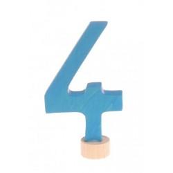 Steker getal cijfer 4 strak