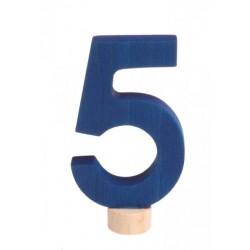Steker getal cijfer 5 strak