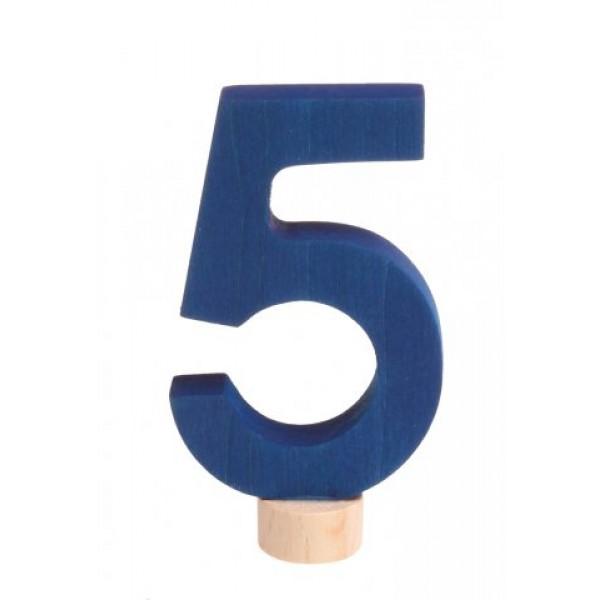 Grimms Steker getal cijfer 5 strak