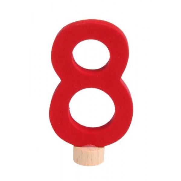 Grimms Steker getal cijfer 8 strak
