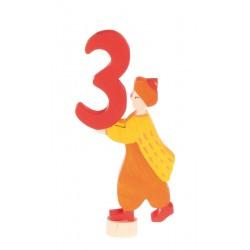 Steker sprookjes getal cijfer 3