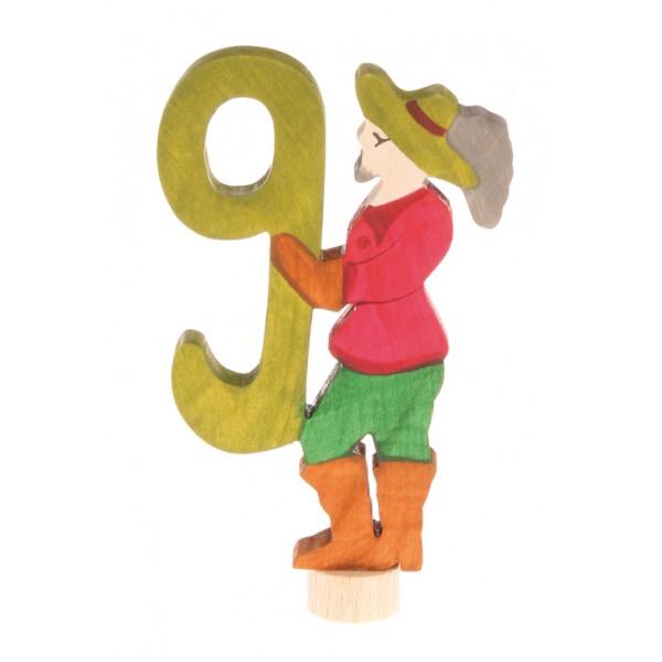 Grimms Steker sprookjes getal cijfer 9