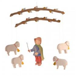 Mobiel Herder met schapen II