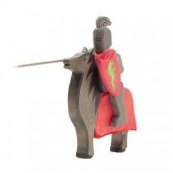 Ridder zwart met paard