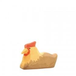 Kip bruin liggend