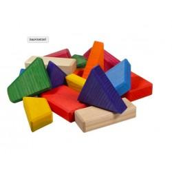 Blokken gekleurd bont
