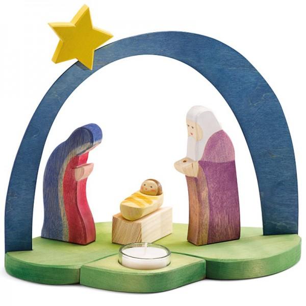 Ostheimer Kerststal met theelicht nieuw 2017