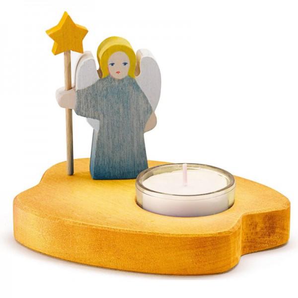 Ostheimer Theelicht geel met blauwe engel