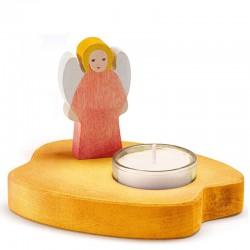 Theelicht geel met rode engel