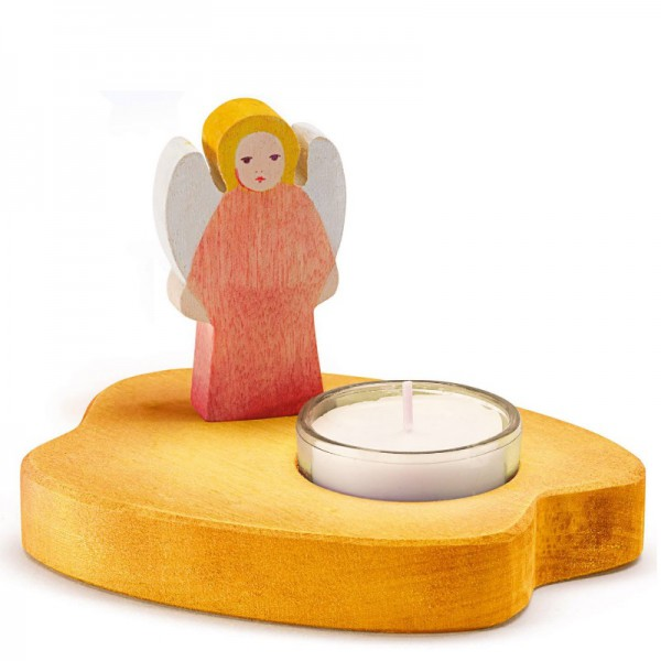 Ostheimer Theelicht geel met rode engel