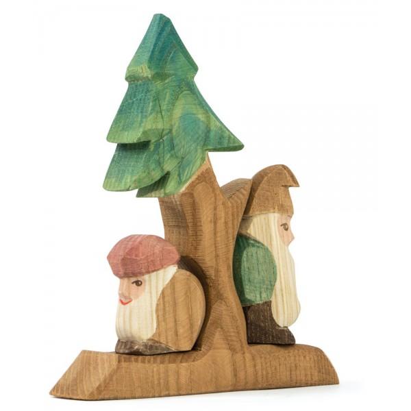 Ostheimer Dwergen en dennenboom set